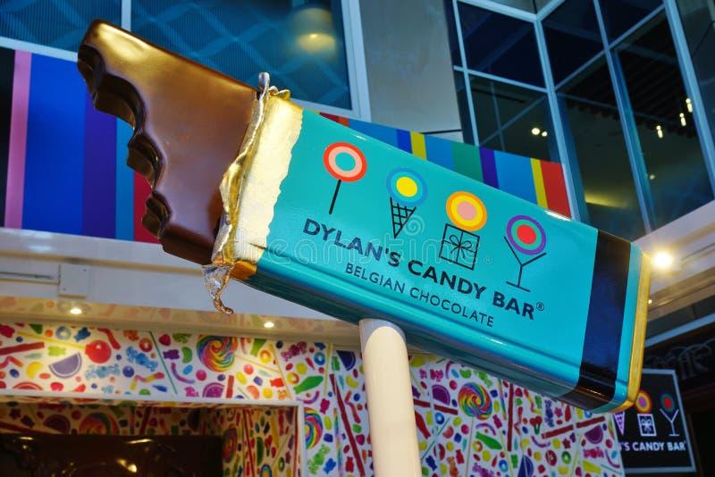 Uma loja de Dylan Candy Bar imagens de stock royalty free