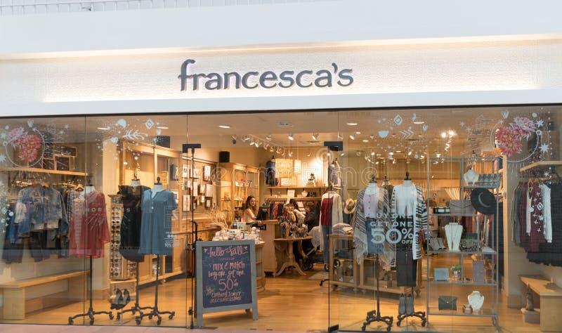 Uma loja do ` s de Francesca em New-jersey fotografia de stock