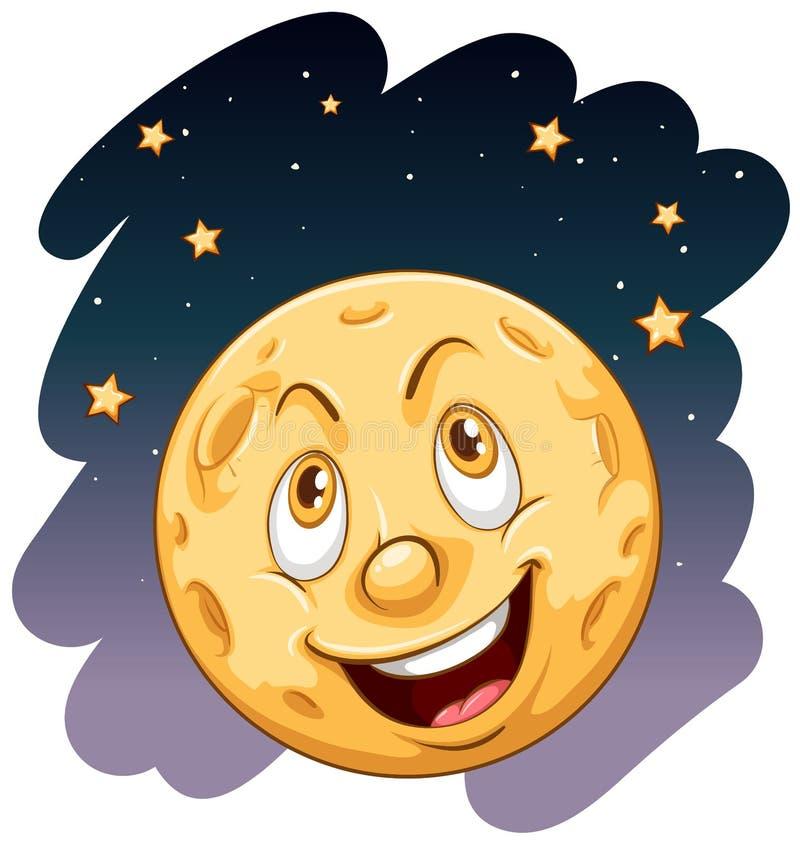 Uma lua de sorriso ilustração do vetor