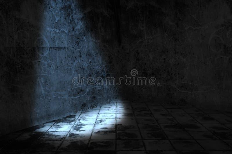 Uma luz na sala escura imagem de stock royalty free