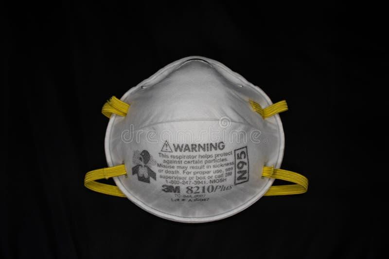 Uma máscara respiratória N95 fotos de stock royalty free