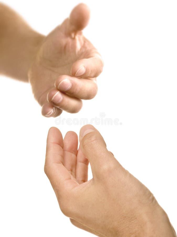 Uma mão amiga foto de stock