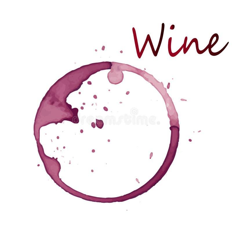 Uma mancha vermelha de uma bebida do vinho foto de stock royalty free