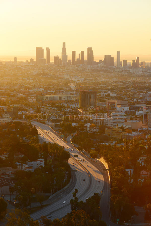 Uma manhã em Los Angeles fotografia de stock