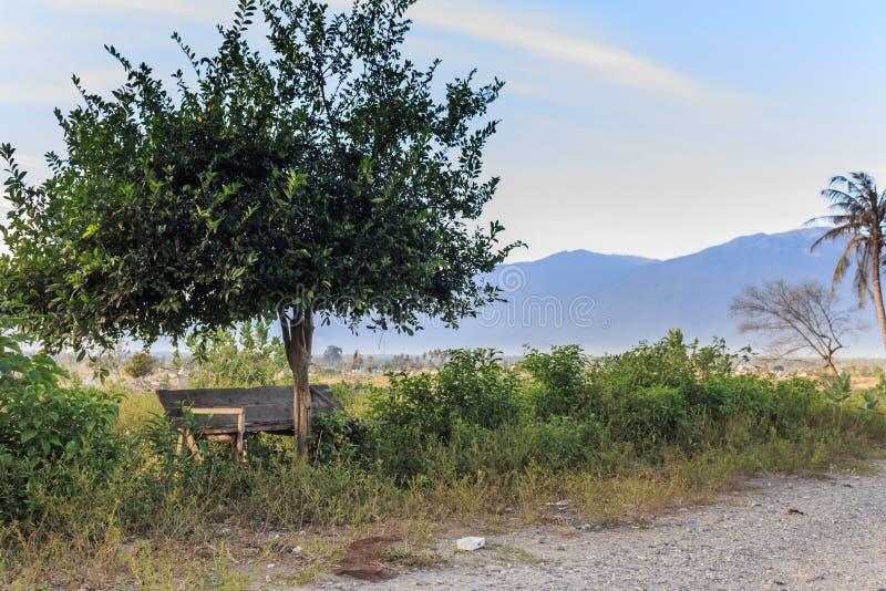 Uma manhã ensolarada no petobo da vila perdeu devido à liquefação foto de stock