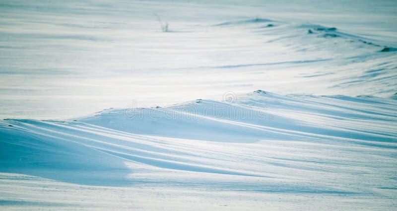 Uma manh? bonita, enevoada nos montes noruegueses no inverno Paisagem branca, obscura fotografia de stock