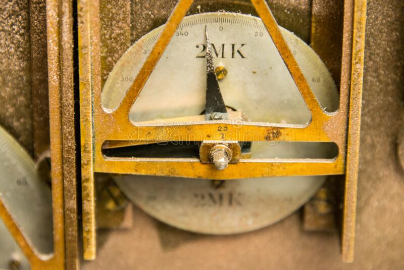 Uma manivela componente da fórmula da maré na máquina de predição da maré nenhuma 2 fotos de stock royalty free