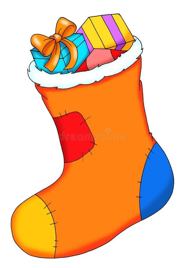Uma meia com presentes ilustração royalty free