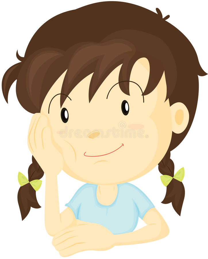 Uma menina ilustração do vetor