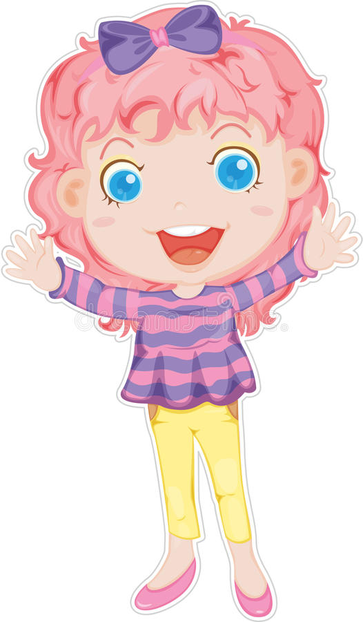 Uma menina ilustração stock