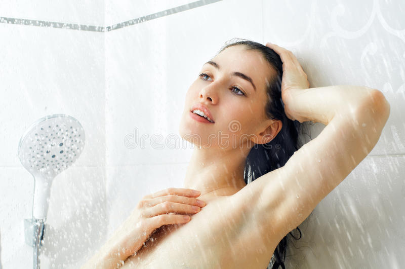 Download Menina no chuveiro foto de stock. Imagem de fresco, se - 29831392