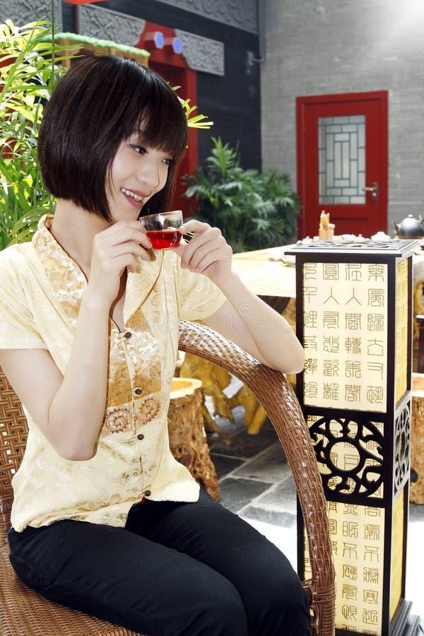 Uma menina chinesa foto de stock