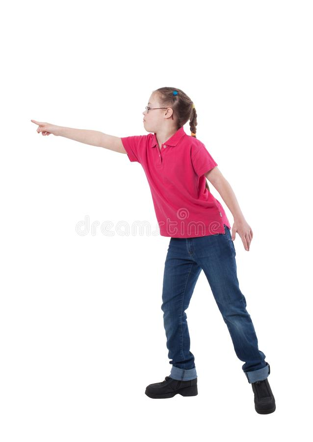 Uma menina com necessidades do special no perfil imagens de stock royalty free
