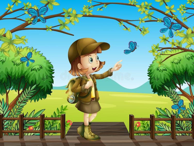 Uma menina de sorriso ilustração royalty free