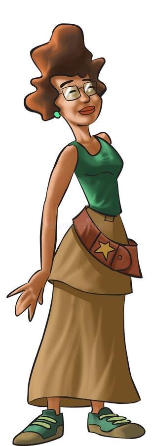 Uma menina nova do hippie ilustração stock