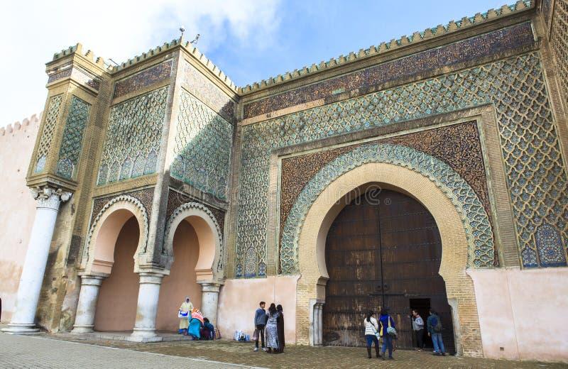 Uma mesquita em Meknes, Marrocos foto de stock royalty free