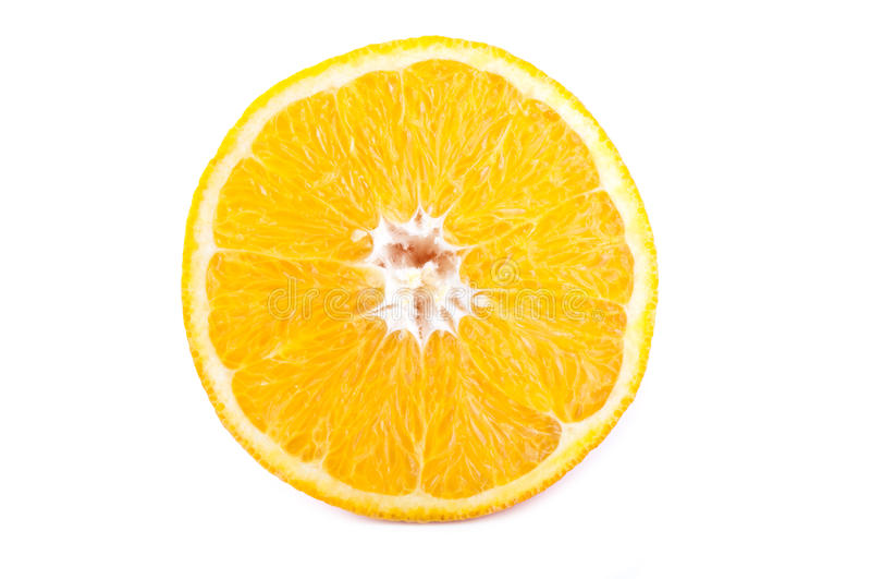 Uma metade da laranja imagens de stock royalty free