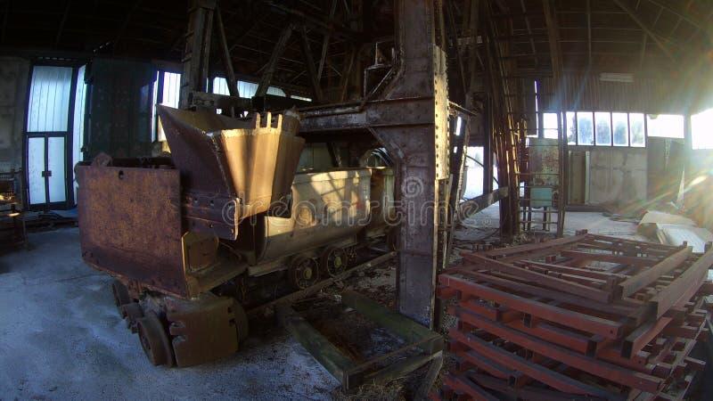 Uma mina de carvão abandonada fotografia de stock