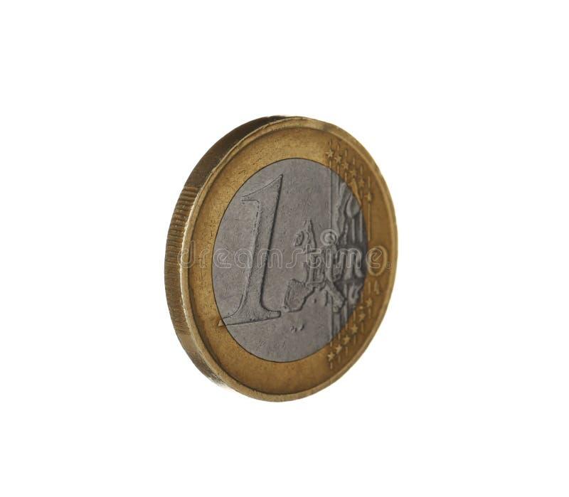 Uma moeda brilhante do euro foto de stock