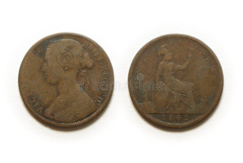 Uma moeda da moeda de um centavo foto de stock
