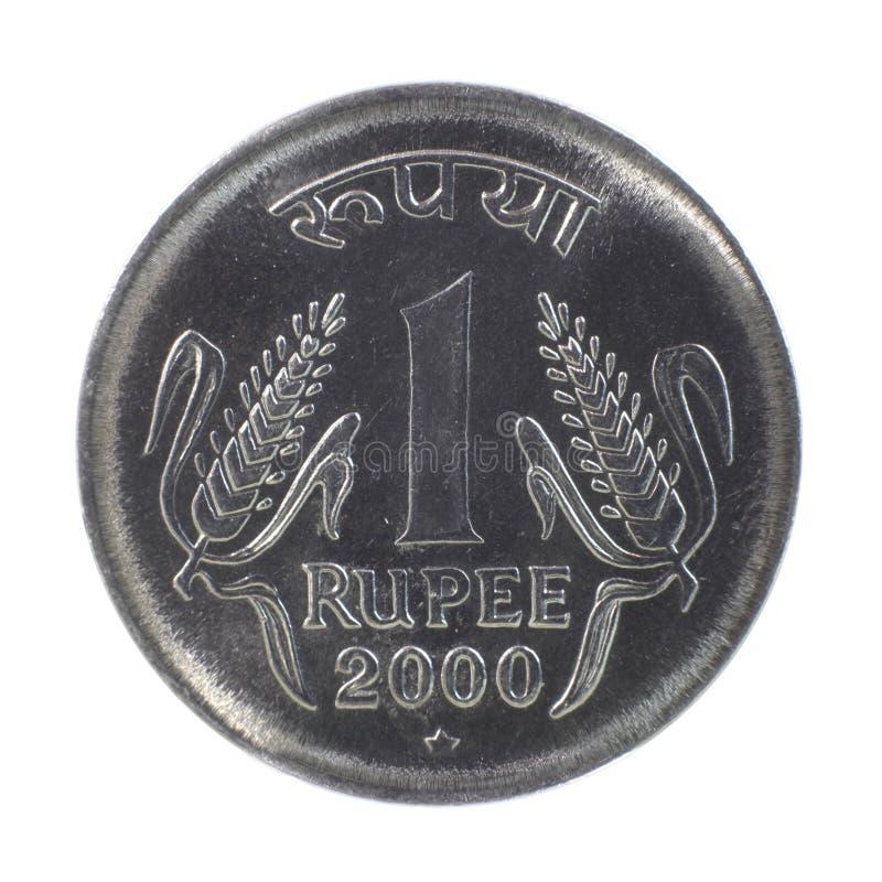 Uma moeda da rupia foto de stock royalty free