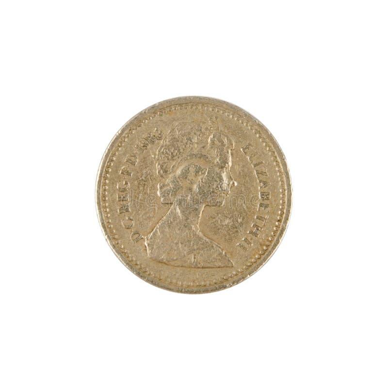 Uma moeda de libra imagem de stock