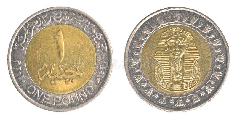 Uma moeda de libra egípcia imagens de stock
