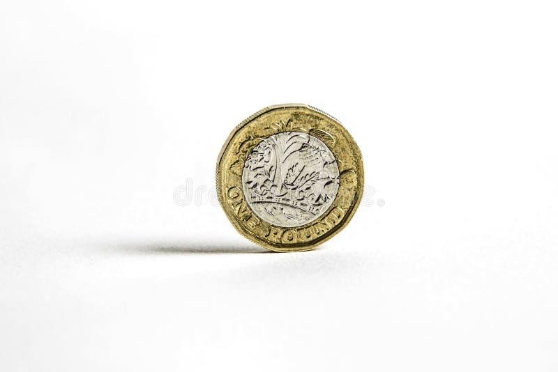 Uma moeda de libra fotos de stock