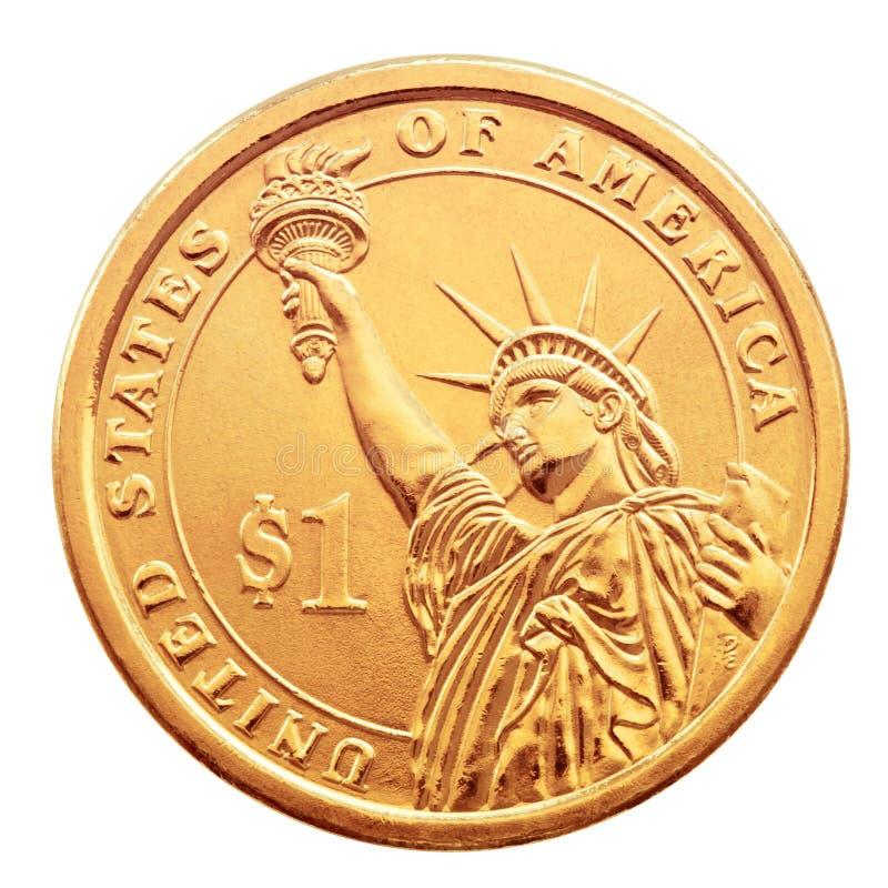 Uma moeda do dólar. imagens de stock royalty free