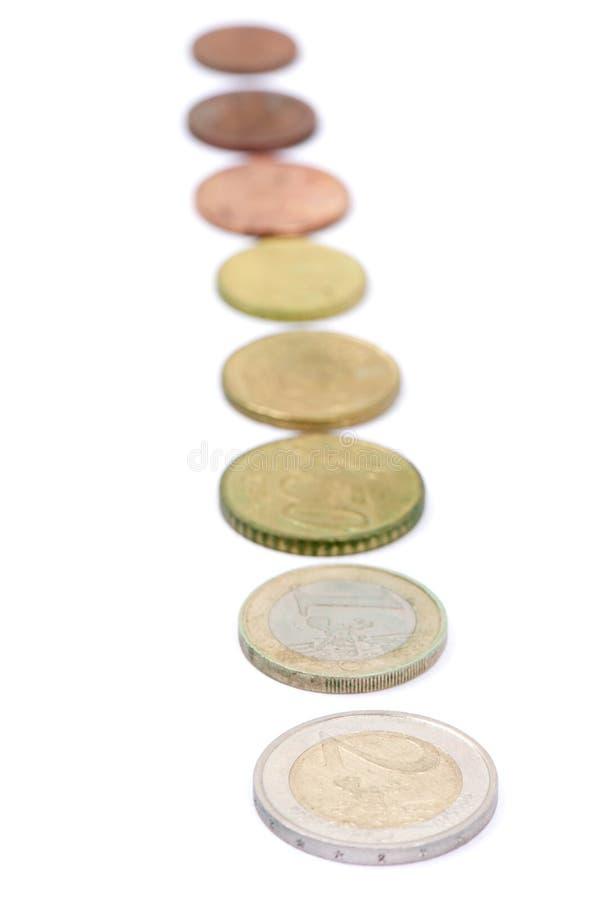 Uma moeda do Euro foto de stock