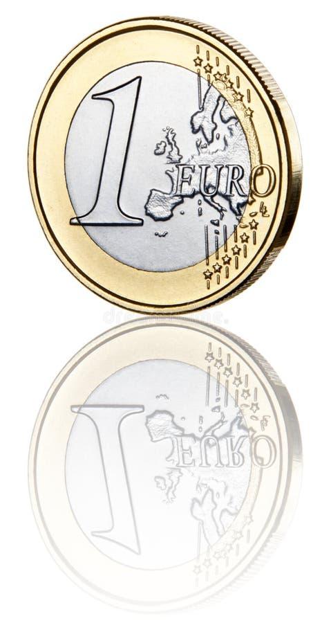 Uma moeda do Euro imagens de stock royalty free