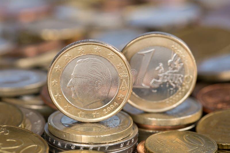 Uma moeda do Euro de Bélgica fotos de stock