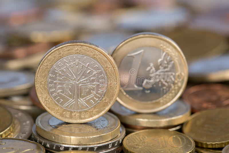 Uma moeda do Euro de França foto de stock