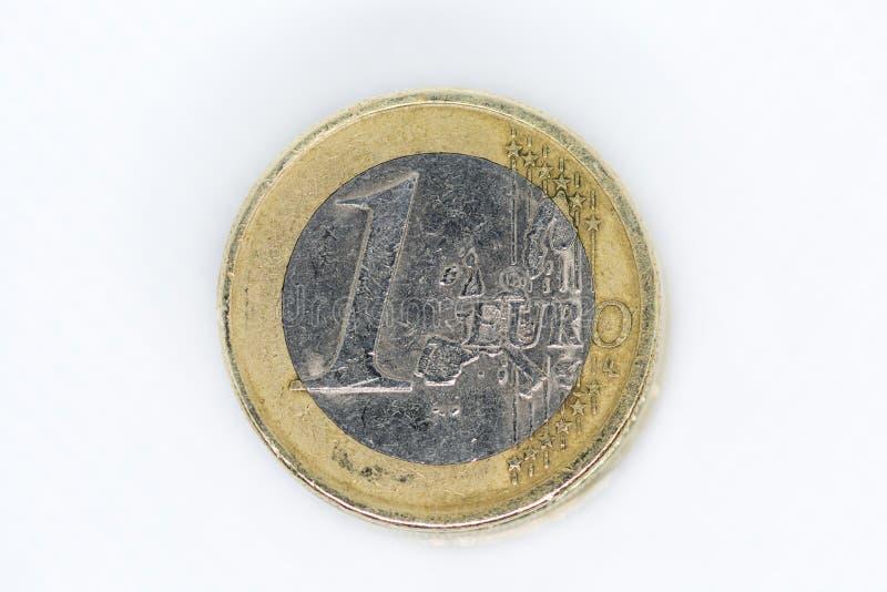Uma moeda do Euro fotos de stock