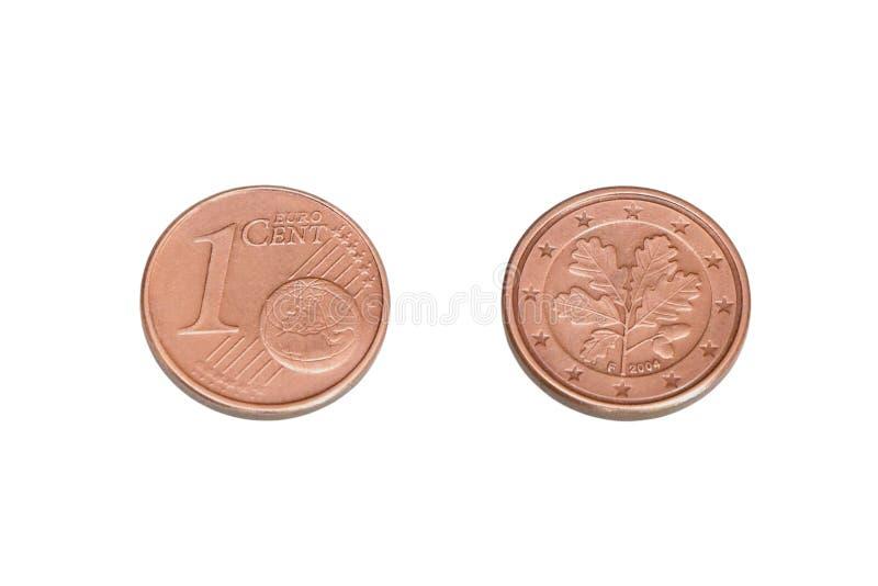 Uma moeda eurocent fotos de stock