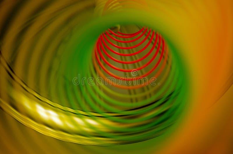 Uma mola do spiralor do arco-íris fotos de stock