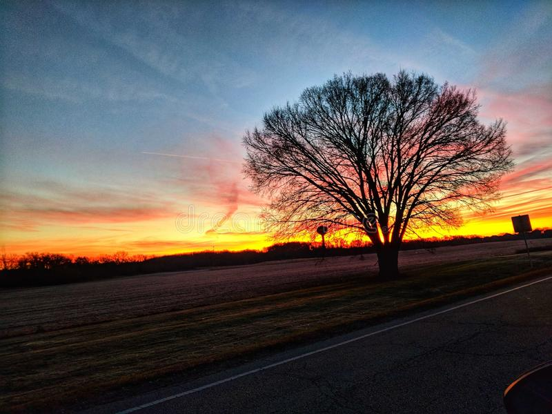 Uma movimentação do amanhecer fotos de stock royalty free