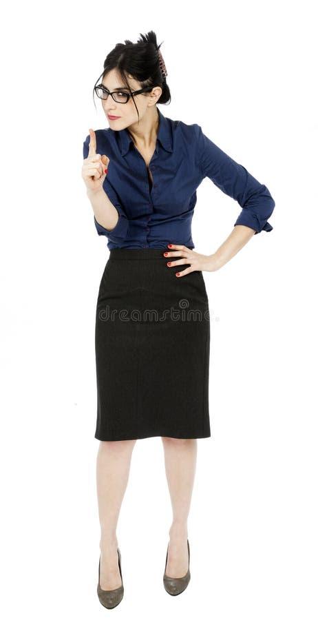 Scolding a mulher de negócio imagens de stock royalty free