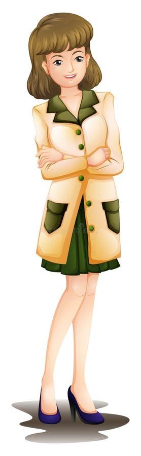 Uma mulher confiável ilustração stock
