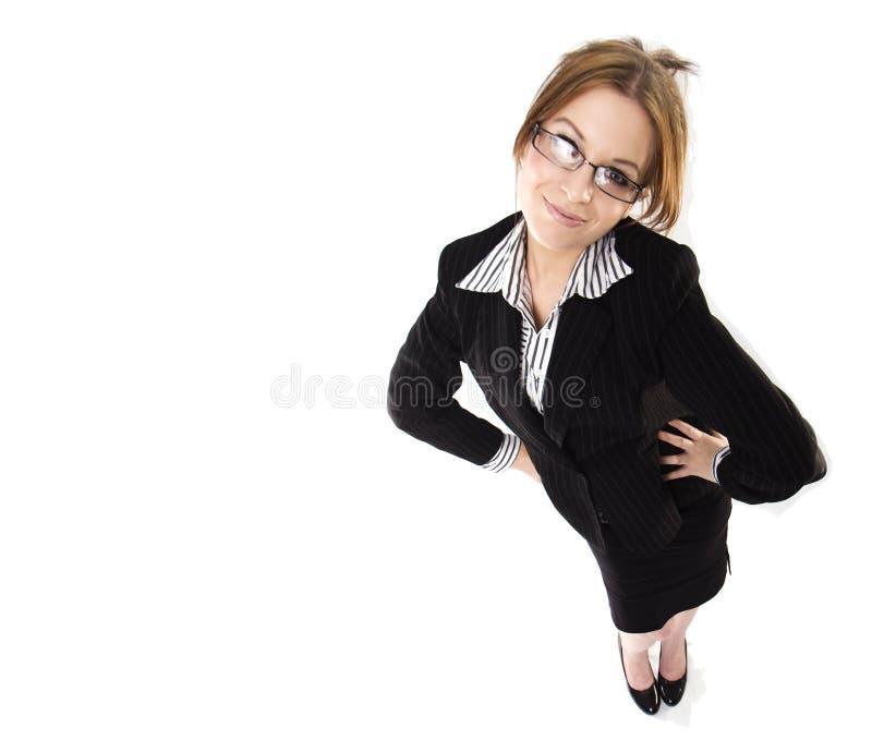 Uma mulher de negócio nova no vestido imagens de stock royalty free