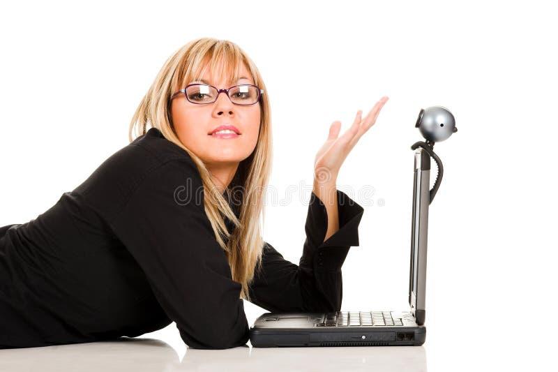 Uma mulher de negócios imagens de stock