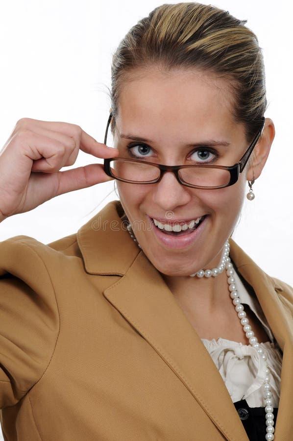 Uma mulher de negócios nova fotos de stock royalty free