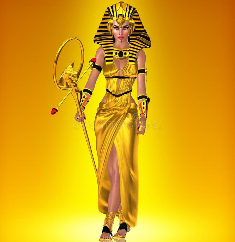 Uma mulher egípcia poderosa ilustração royalty free