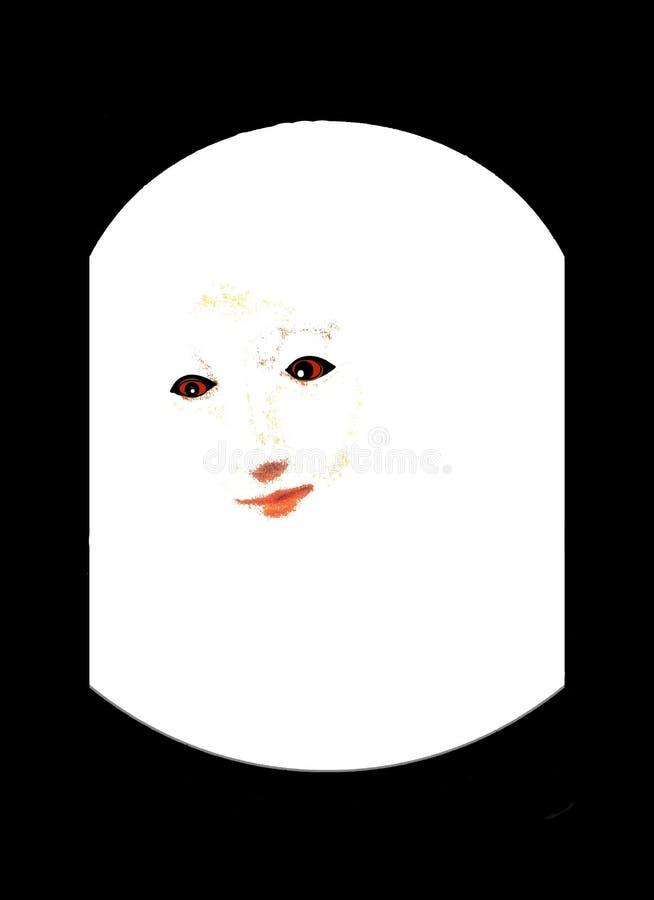 Uma mulher mantida - senhora Under Um Vidro Abóbada foto de stock royalty free