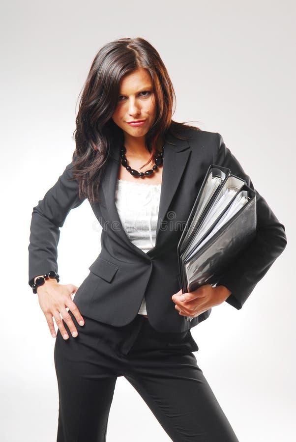 Uma mulher no escritório fotos de stock