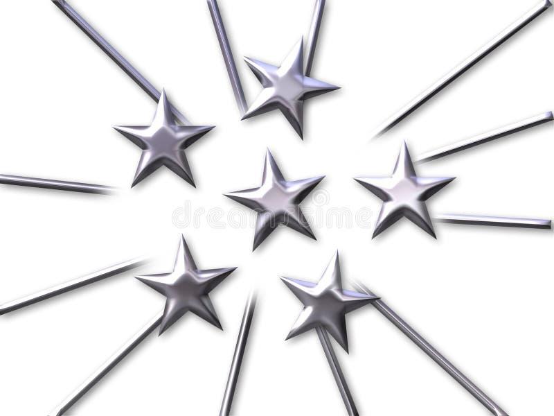 Uma multidão de estrelas ilustração royalty free