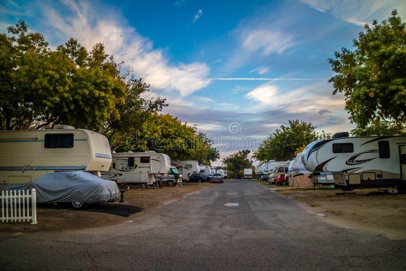 Uma natureza imponente do parque do Roadrunner rv, Califórnia fotos de stock