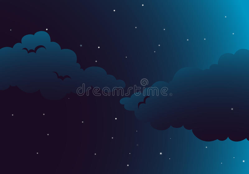 Uma noite calma ilustração royalty free