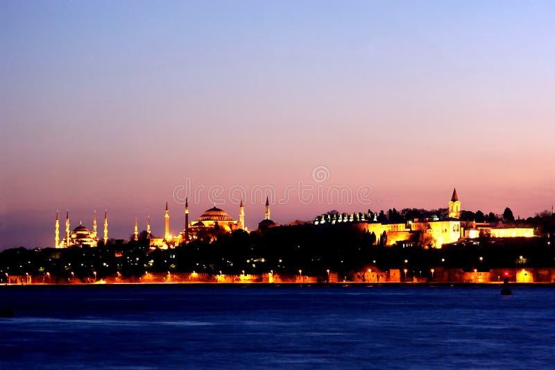 Uma noite de Istambul fotos de stock royalty free