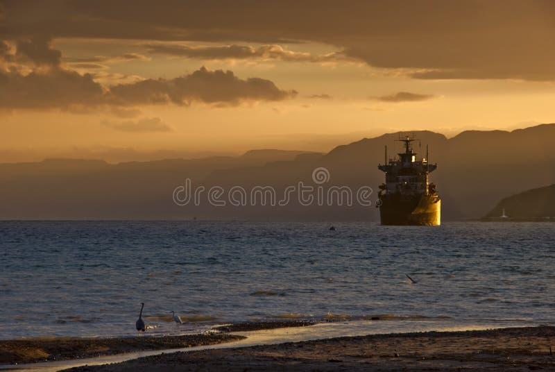 Uma noite no Mar Vermelho fotos de stock royalty free